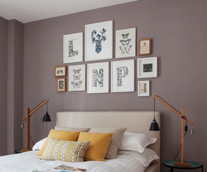 artwork, home decor, and bedroom image