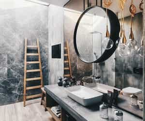 bathroom, mirror, and design image