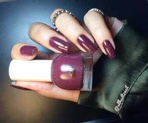 manicure, nail polish, and nails image