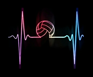 volleyball, sport, and volley image