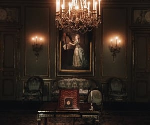 aesthetic, candles, and chandelier image