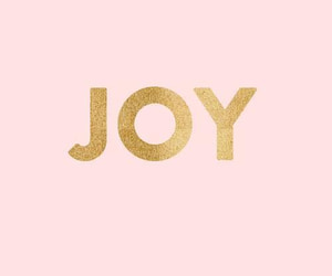 joy, pink, and gold image