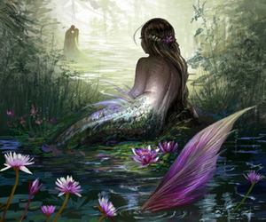mermaid, art, and fantasy image