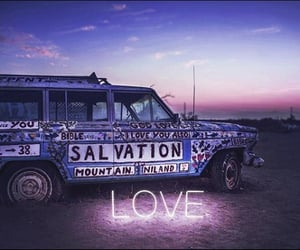 car, light, and love image