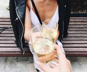 fashion, drink, and champagne image