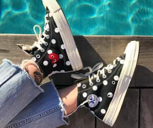 cdg, comme des garcons, and converse image