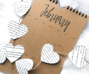 february, month, and love image