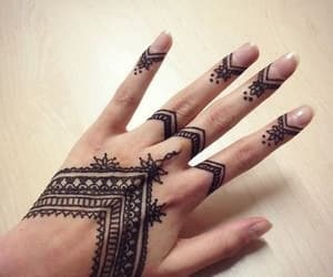 fashion, hands, and henna image