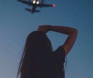 girl, love, and airplane image