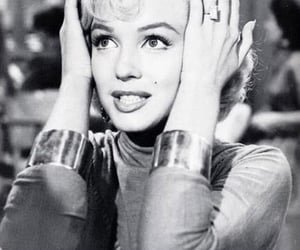 Marilyn Monroe, black and white, and Queen image