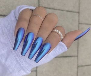blue, favorite, and nails image