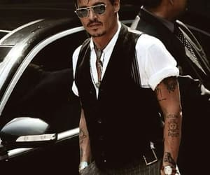 johnny depp, actor, and tattoo image