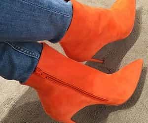 boots, fashion, and orange image