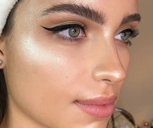 face, highlighter, and makeup image