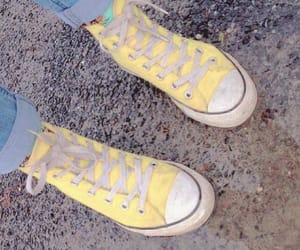 aesthetic, yellow, and all star image
