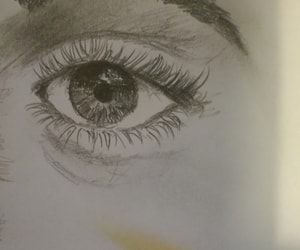 art, draw, and eye image