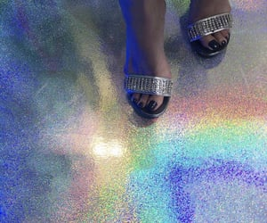 feet, rainbow, and style image