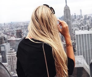 hair, city, and blonde image
