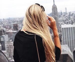 hair, city, and girl image