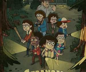 stranger things, netflix, and gravity falls image