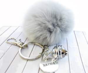 etsy, fluffy keychain, and rearview car charm image