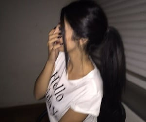 girl, hair, and laugh image