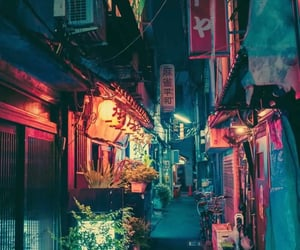 japan, city, and light image
