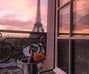 paris, champagne, and sunset image