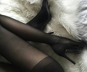 black, shoes, and legs image