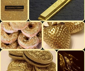 aesthetic, Collage, and gold image