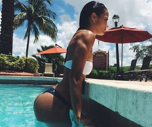 summer, fit, and pool image