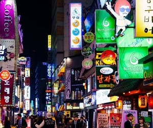 korea, night, and seoul image