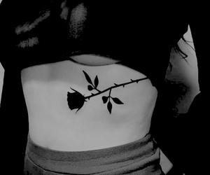 tattoo, body, and rose image