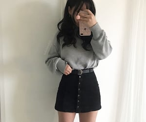 black, clothes, and grey image