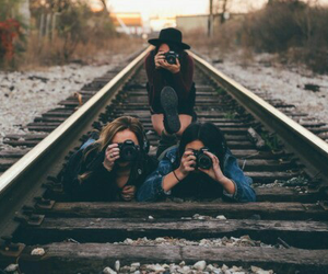 camera, girls, and photography image