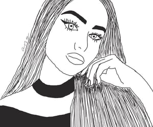 outline, girl outline, and overlay image