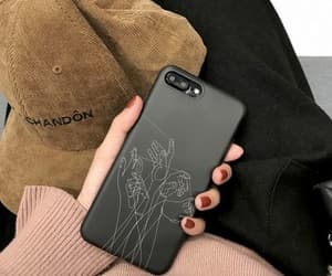 phone, black, and case image