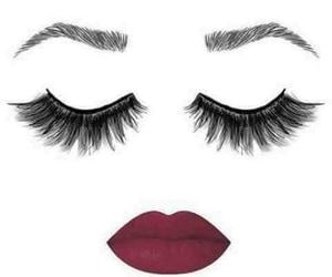 eyelashes, lipstick, and make up image