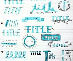 school, title, and notes image