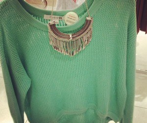 fashion, green, and sweater image
