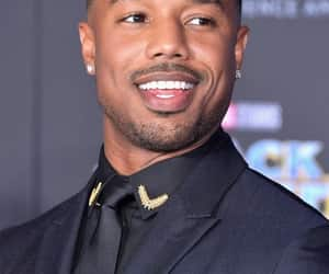 black panther and michael b. jordan image