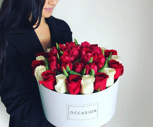 bouquet, rosas, and ramo image