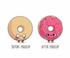 donut, maquillaje, and donas image
