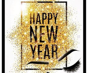 eyelashes, maquillaje, and happy new year image