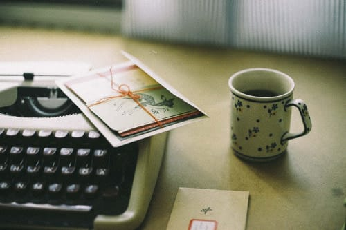 vintage, write, and coffee image