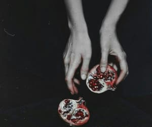 hands, red, and dark image