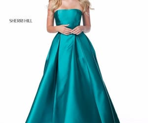 blonde, decolletage, and sherri hill image