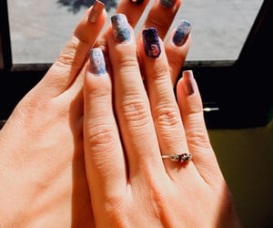 nail art, diseño de uñas, and purple nails image