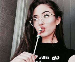 girl, thalia bree, and glasses image