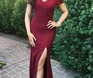 burgundy prom dress and prom dress mermaid image